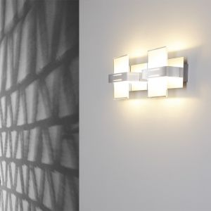 LHG Wandleuchte 2-flammig Glas satiniert - LED 2 x 5W