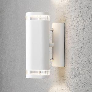 LHG Wandleuchte Außen, Up & Down, Wandstrahler, H 24 cm, weiß 2x 35 Watt, weiß