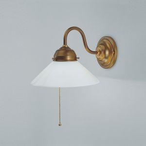 Wandleuchte ASCANA Wandlampe Antik Scavoglas Bronze Creme Elegant Klassisch
