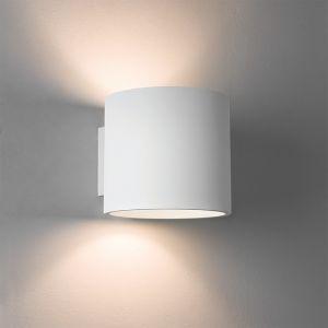 LHG Wandleuchte aus Gips in Weiß - up & down - inklusive Leuchtmittel 1x E27 60W