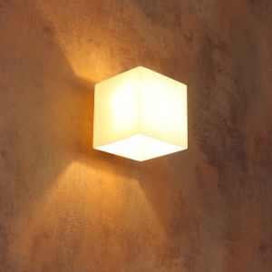 LHG Wandleuchte aus Glas Rico weiß inkl. LED