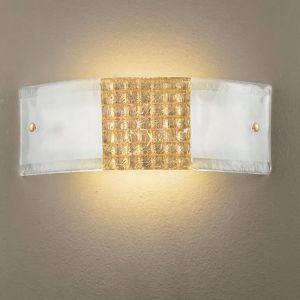 Wandleuchte aus hochwertigem Glas - Golddeko, 2 Größen