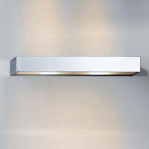 Wandleuchte Box  - in chrom -  mit Opalglas weiß - IP44