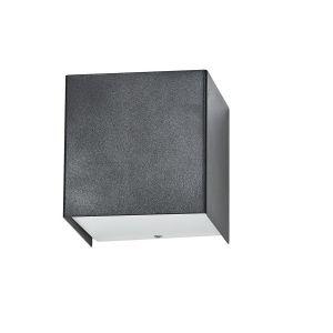 Wandleuchte Cube in graphite grafit