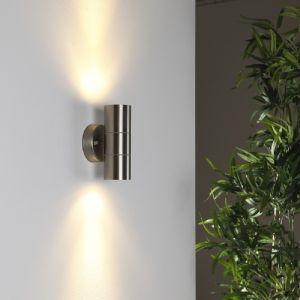 Wandleuchte Edelstahl mit Lichteffekt, 2 x Power LED 3Watt