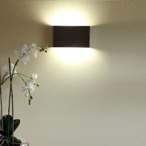 LHG Wandleuchte in Edelstahl, Energiesparend und flach, inklusive Leuchtmittel