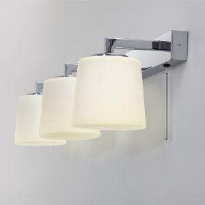 LHG Wandleuchte fürs Badezimmer in Chrom mit Opalgläsern inkl. 3xG9 40 Watt, mit Zugschalter