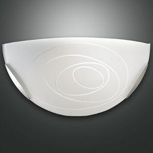 Wandleuchte Glas in Weiß