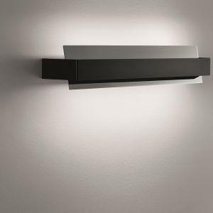 schwenkbare Wandleuchte, italienisches Design in Chrom/Grau grau, Chrom