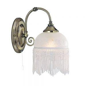 Wandleuchte Victoriana mit edlem Glaslampenschirm
