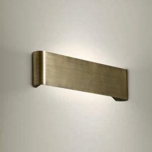 Wandleuchte, up and down, Metall, 48cm lang, Brüniert messingfarbig, brüniert