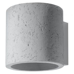 Wandleuchte, Beton, rund, Up&Down, inkl. LED-Leuchtmittel warmweiß