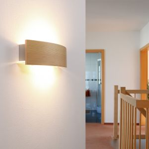 Wandleuchte, Funierholz, Blende, Kiefer, indirektes Licht