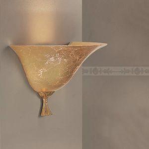 Wandleuchte - Glas mit Goldbeschichtung - 3 Größen - Antik-Gold 24 K