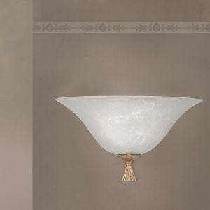 Wandleuchte - Glas mit Silberbeschichtung - 3 Größen - in Antik-Silber