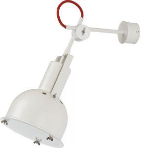 Wandleuchte, Industrial, weiß, Fassung E27 für LED Leuchtmittel