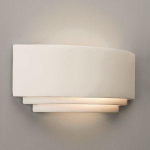Wandleuchte, Keramik, Up&Down Lichtaustritt, 31,5cm breit, LED möglich