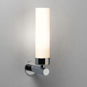 Wandleuchte, Spiegelleuchte modern, Opalglas, E14 Fassung LED geeignet