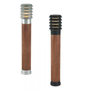 Wegeleuchte mit Holz - Höhe 85cm - verschiedene Varianten lieferbar