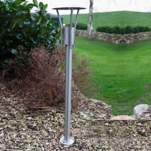 Wegeleuchte, Edelstahl, 80 cm hoch, Gartenbeleuchtung, LED geeignet