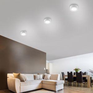 Weiße LED-Deckenleuchte Oskar in drei Größen