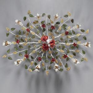 Wunderschöne Deckenleuchte Rosendekor - 10-flammig