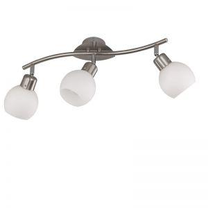 Zeitloser LED-Deckenstrahler - 3-flammig - Nickel-matt stahlfarbig, Nickel-matt