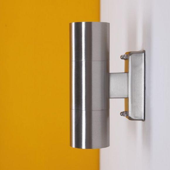 Up & Down Außenwandleuchte aus Edelstahl, GU10 LED - 2x7W