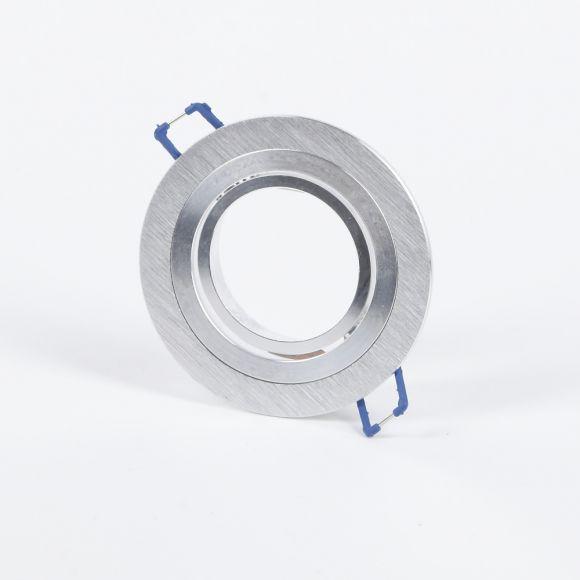 LHG 10-er Set LED Decken-Einbaustrahler, Alu rund, inkl. 7W LED