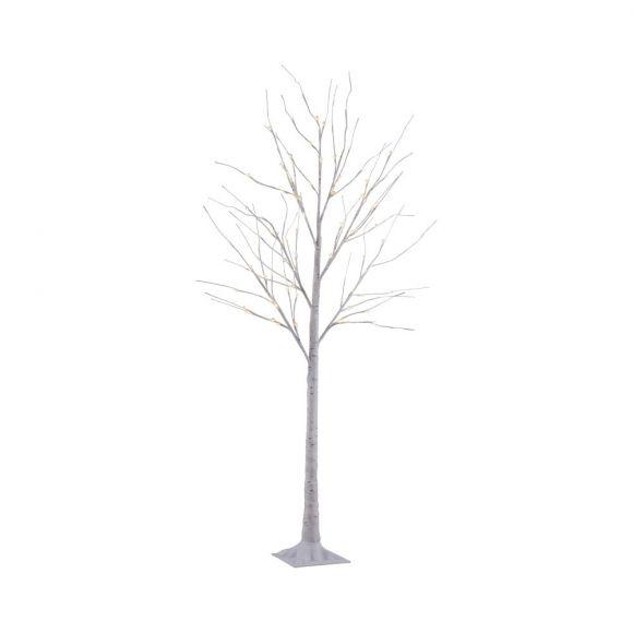 180cm LED Birkenbaum aus Eisen mit 88 Leuchtmitteln, Dekoleuchte IP44, für Außen geeignet