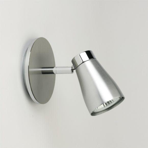 LHG 1-flammiger Strahler in Aluminium gebürstet - schwenkbar - inklusive Leuchtmittel