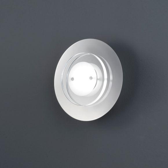 1-flg LED-Wandleuchte Chrom, Glas satiniert / klar satiniert