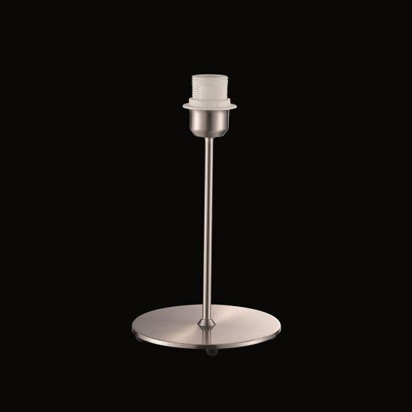 1-flg. Tischleuchte in Nickel-matt - Schnurschalter, Fassung E27, Schirm kombinierbar