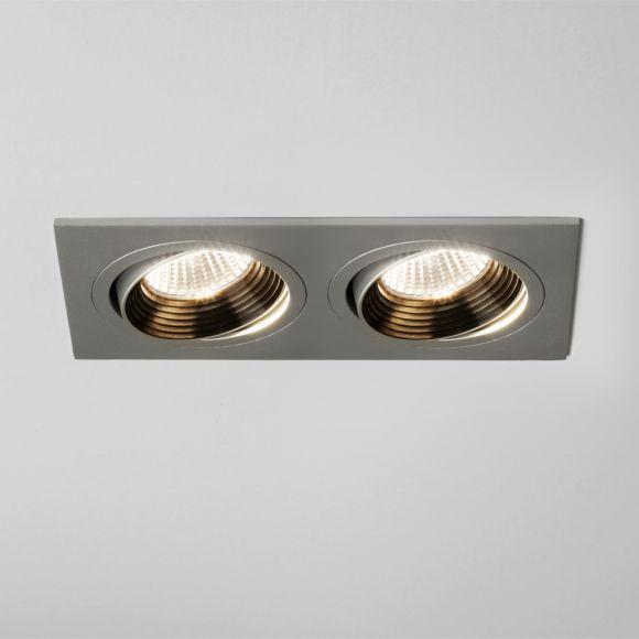 2-flg. LED-Einbaustrahler aluminium, dimmbar, schwenkbar