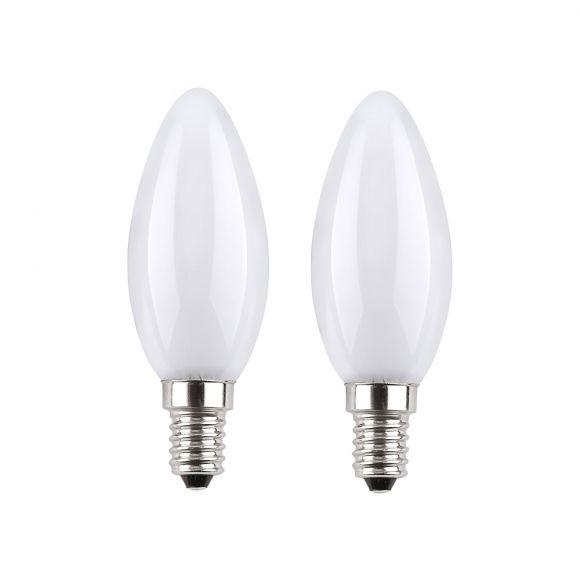 2-er Set Kerze LED matt je 2W, 210lm, E14  2700K  230V