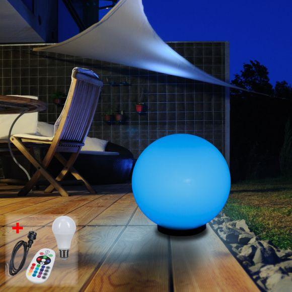 LHG 30cm Kugelleuchte mit Kabel LED-RGB Leuchtmittel + Fernbedienung