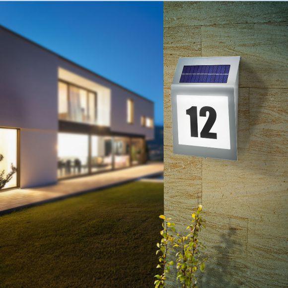 LED-Solar Hausnummernleuchte Style mit Solarmodul