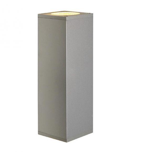 Wandleuchte Theo Up-Down aus Aluminium in silber-grau oder alu brushed