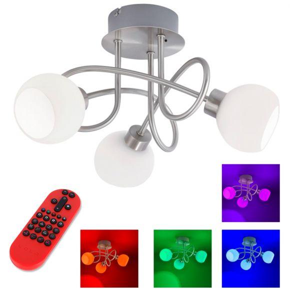 3fl.LED Deckenleuchte Lola Lotta mit RGB und CCT und Fernbedienung