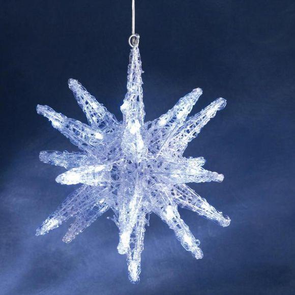 3 d stern f r innen led weihnachtsbeleuchtung wohnlicht. Black Bedroom Furniture Sets. Home Design Ideas