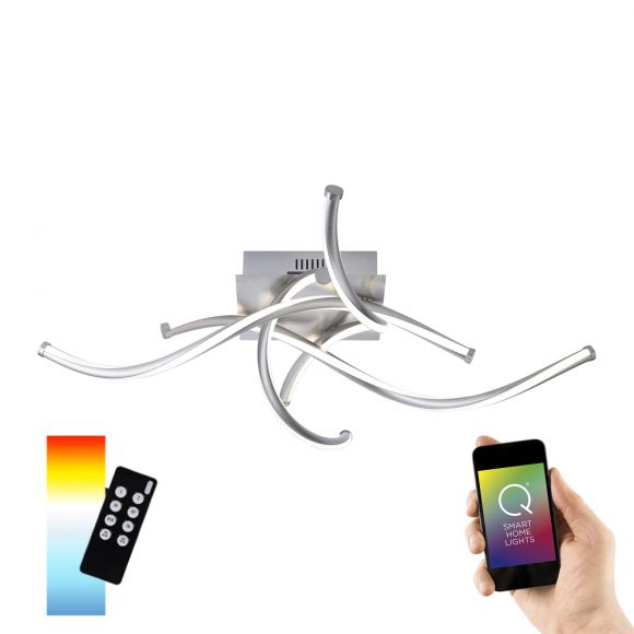 4fl.LED Deckenleuchte Q®-Malina, Smart Home ZigBee kompatibel