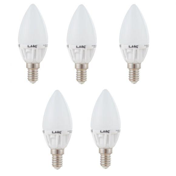 5er Set LED Leuchtmittel E14 Kerze, 5 Watt