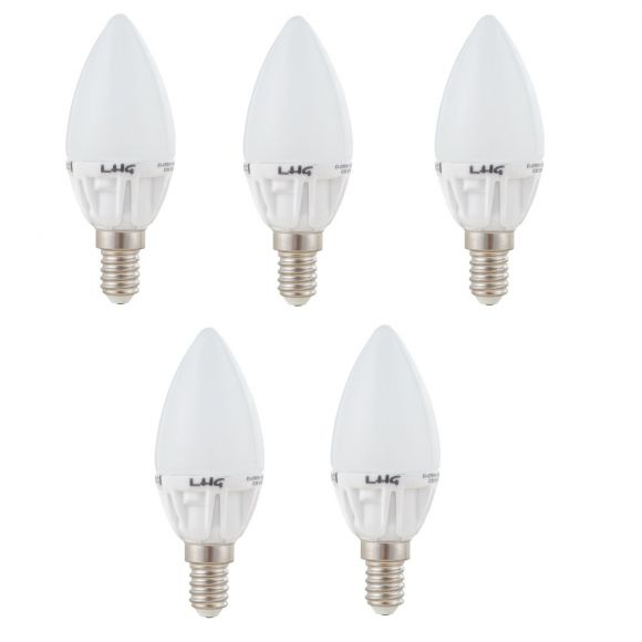 LHG 5er Set LED Leuchtmittel E14 Kerze, 3 Watt