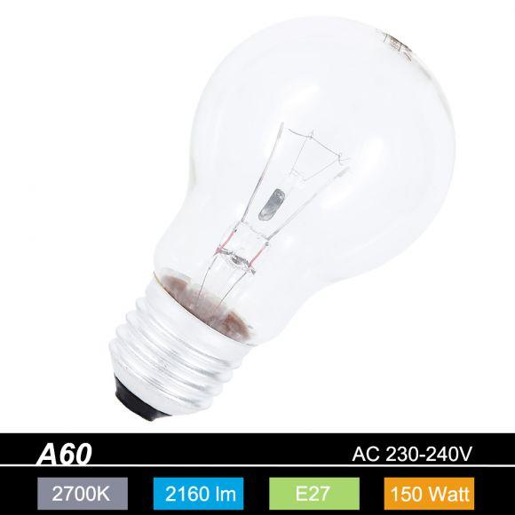 A60 AGL 150W klar E27 230V