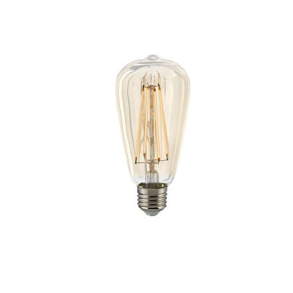 A65 LED Rustikalampe Gold E27 warmweiß dimmbar 4,5 oder 7 Watt