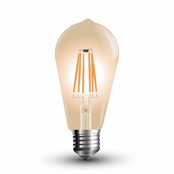 A65 Rustika Filament LED E27, amber, 8W
