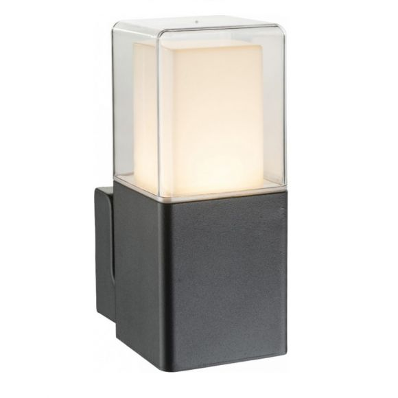 Alu-Druckguss LED Wandleuchte Dalia, schwarz