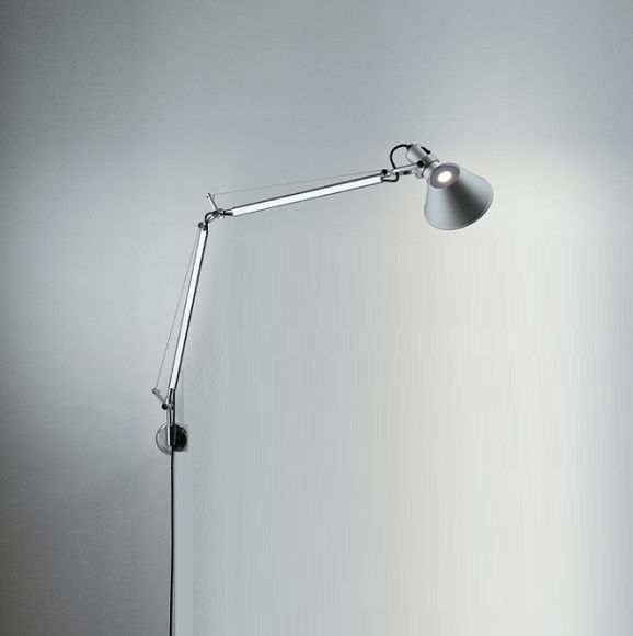 Artemide Tolomeo Mini LED Parete in Aluminum mit Dimmer