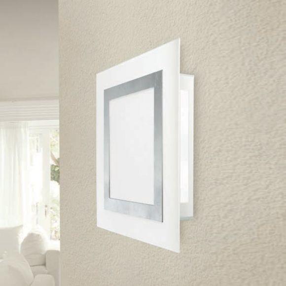 Attraktive LED-Wandleuchte mit hohem Lichtoutput - 32 Watt - Glas - Gold oder Silber
