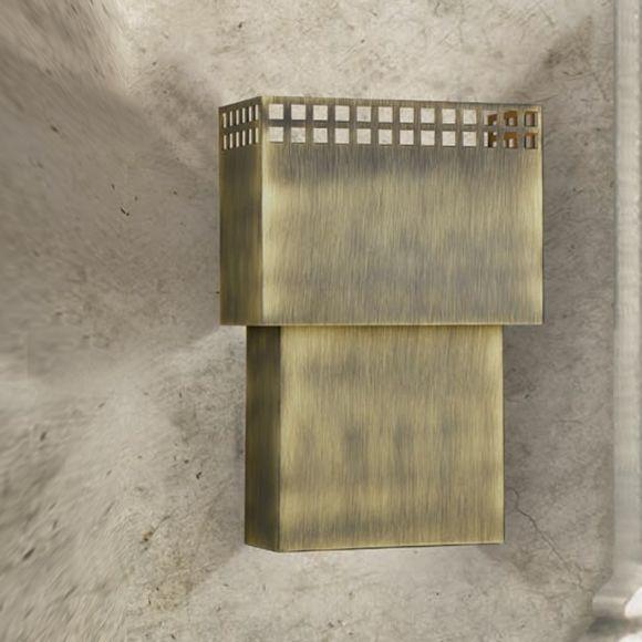 Attraktive Wandleuchte - 3 Oberflächen - Höhe 23 cm